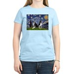 Starry Night & Bos Ter Women's Light T-Shirt