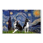 Starry Night & Bos Ter Sticker (Rectangle)