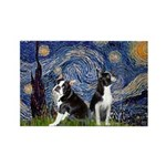 Starry Night & Bos Ter Rectangle Magnet