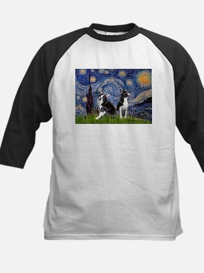 Starry Night & Bos Ter Kids Baseball Jersey