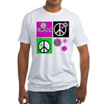 Peace for All Fitted T-Shirt