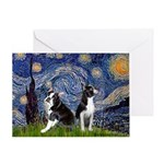 Starry Night & Bos Ter Greeting Card