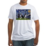 Starry Night & Bos Ter Fitted T-Shirt