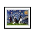 Starry Night & Bos Ter Framed Panel Print