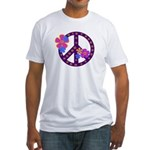 Peace Sign Made in the USA Fitted T-Shirt