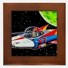 V-7 SPACE SHIP Framed Tile