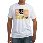 Pastel Colors Peace Fitted T-Shirt
