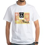 Pastel Colors Peace White T-Shirt