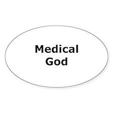 Medical God Oval Decal