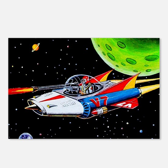 V-7 SPACE SHIP Postcards (Package of 8)