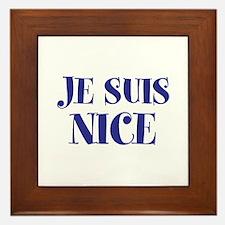 Je Suis Nice Framed Tile