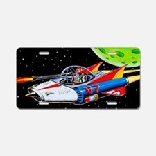 V-7 SPACE SHIP Aluminum License Plate