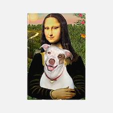 Mona's Pitbull Rectangle Magnet (10 pack)
