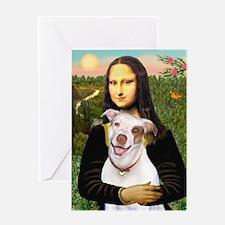 Mona's Pitbull Greeting Card