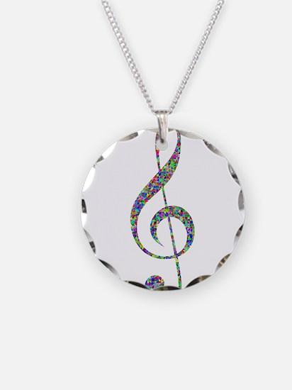 Unique Purple music note Necklace