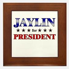 JAYLIN for president Framed Tile
