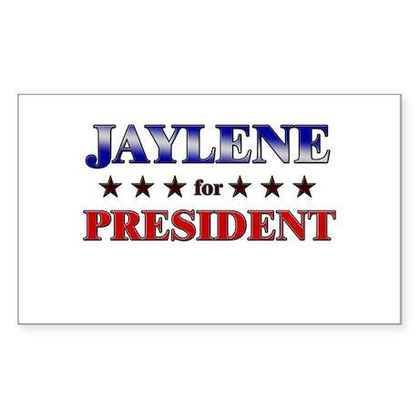 JAYLENE for president Rectangle Sticker