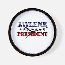 JAYLENE for president Wall Clock