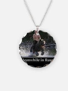 Vladimir Putin Riding A Bear Necklace