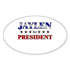JAYLEN for president Oval Decal