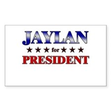 JAYLAN for president Rectangle Decal