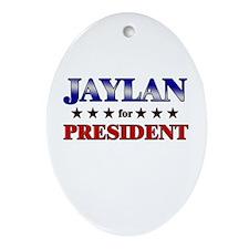 JAYLAN for president Oval Ornament