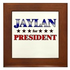 JAYLAN for president Framed Tile