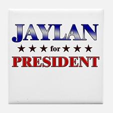 JAYLAN for president Tile Coaster