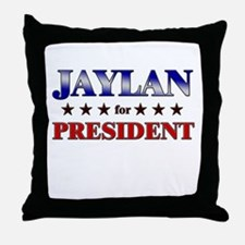 JAYLAN for president Throw Pillow