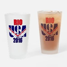 USA 2016 Rio 2a Drinking Glass