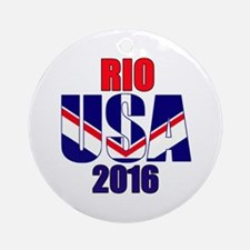 USA 2016 Rio 2a Round Ornament