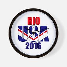 USA 2016 Rio 2a Wall Clock