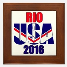 USA 2016 Rio 2a Framed Tile