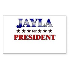 JAYLA for president Rectangle Decal