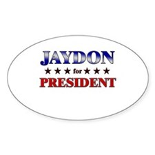 JAYDON for president Oval Decal