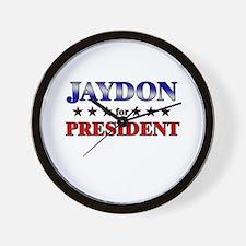 JAYDON for president Wall Clock