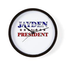 JAYDEN for president Wall Clock