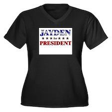 JAYDEN for president Women's Plus Size V-Neck Dark