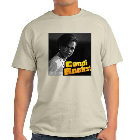 """""""Condi Rocks!"""" Dr. Condoleeza Ash Grey T-Shirt"""
