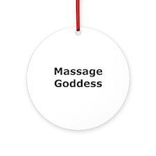 Massage Goddess Ornament (Round)