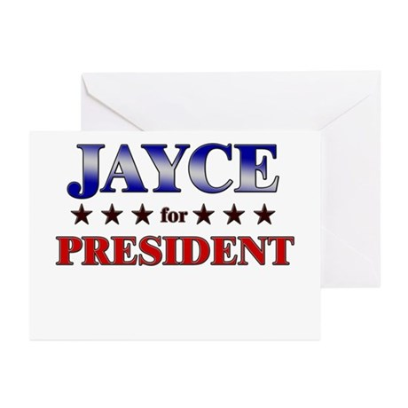 JAYCE for president Greeting Cards (Pk of 10)