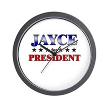 JAYCE for president Wall Clock