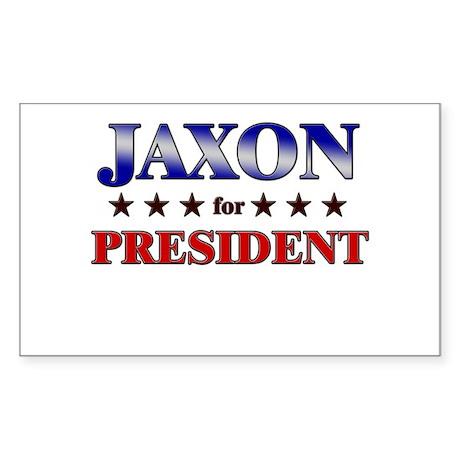JAXON for president Rectangle Sticker