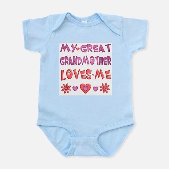 "Baby Girl ""Great Grandmother"" Infant Bodysuit"