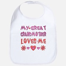 "Baby Girl ""Great Grandmother"" Bib"