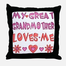 "Baby Girl ""Great Grandmother"" Throw Pillow"
