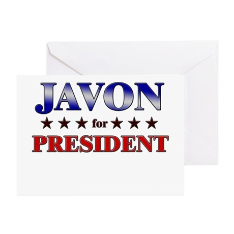 JAVON for president Greeting Cards (Pk of 20)