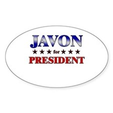 JAVON for president Oval Decal