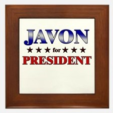 JAVON for president Framed Tile