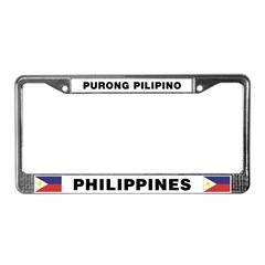 Purong Pilipino License Plate Frame